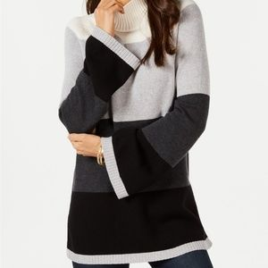 Charter Club Colorblocked Sweater Deep Black Combo